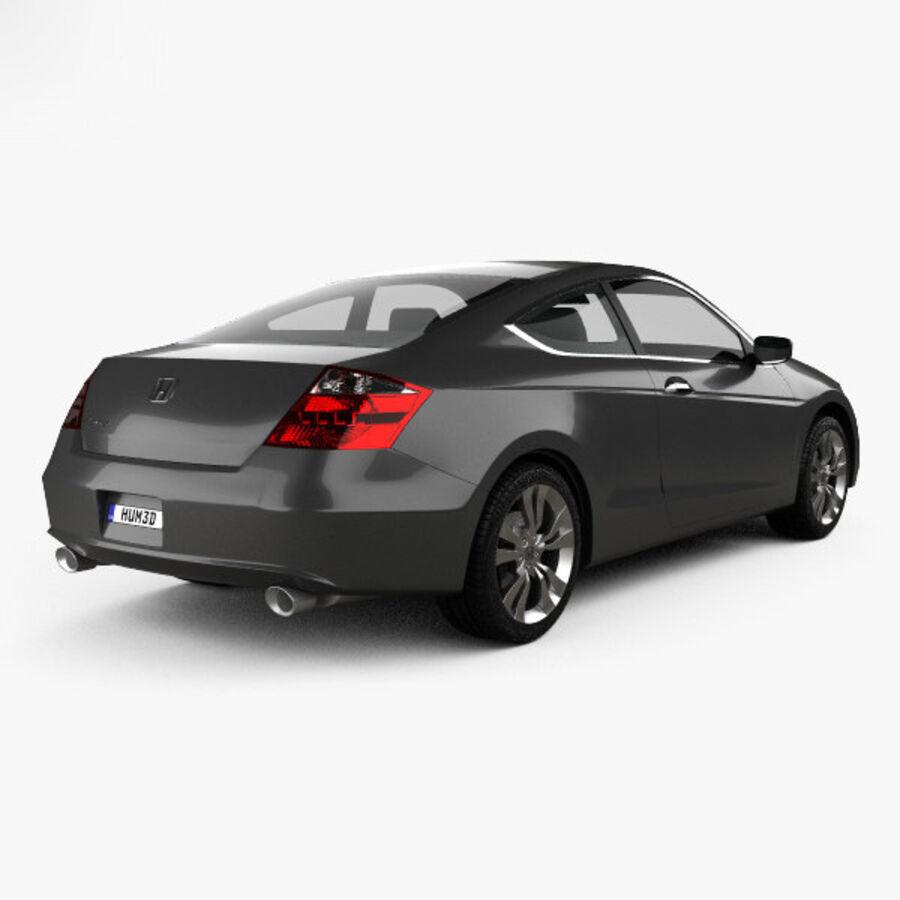 Honda Accord (CS) EX-L coupe 2008 royalty-free 3d model - Preview no. 2