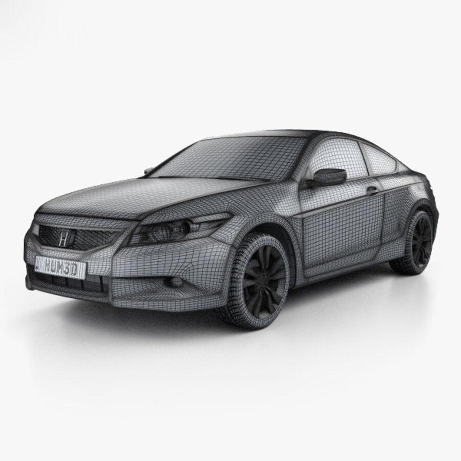 Honda Accord (CS) EX-L coupe 2008 royalty-free 3d model - Preview no. 3