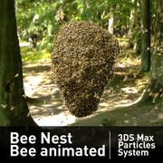 Nido de abeja Abeja animada de abejas modelo 3d