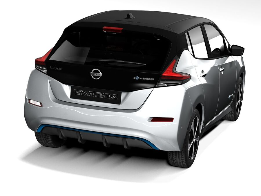 Nissan Leaf 2020 royalty-free 3d model - Preview no. 6