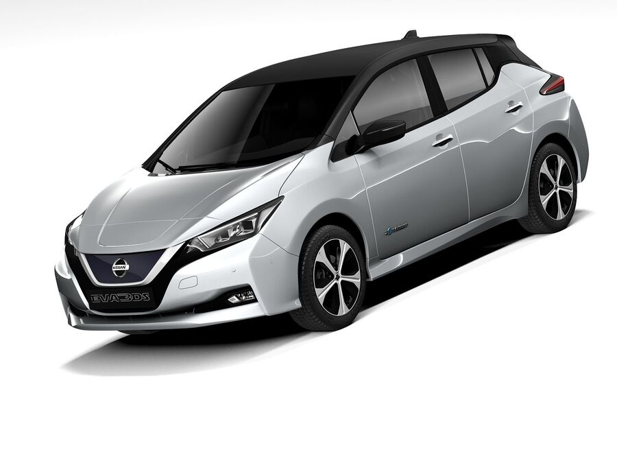 Nissan Leaf 2020 royalty-free 3d model - Preview no. 1