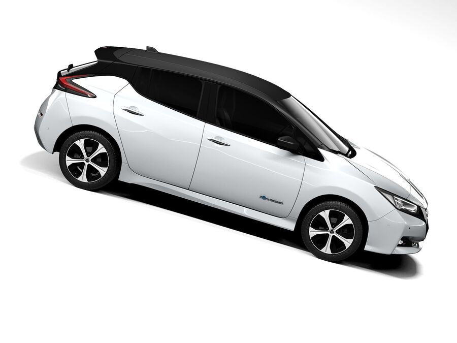 Nissan Leaf 2020 royalty-free 3d model - Preview no. 7