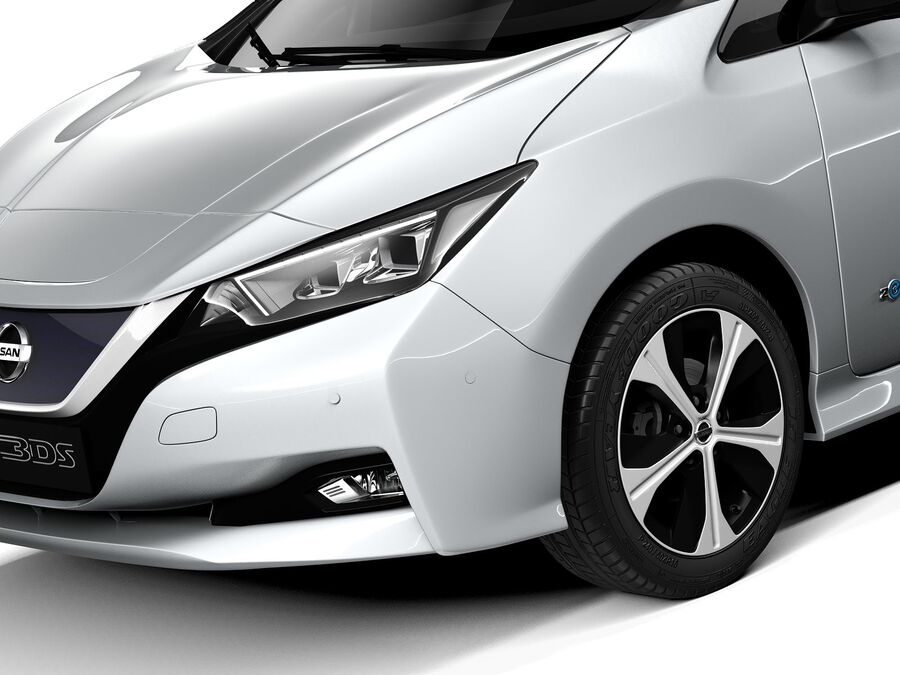 Nissan Leaf 2020 royalty-free 3d model - Preview no. 3