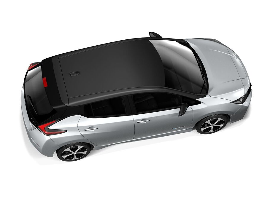 Nissan Leaf 2020 royalty-free 3d model - Preview no. 8