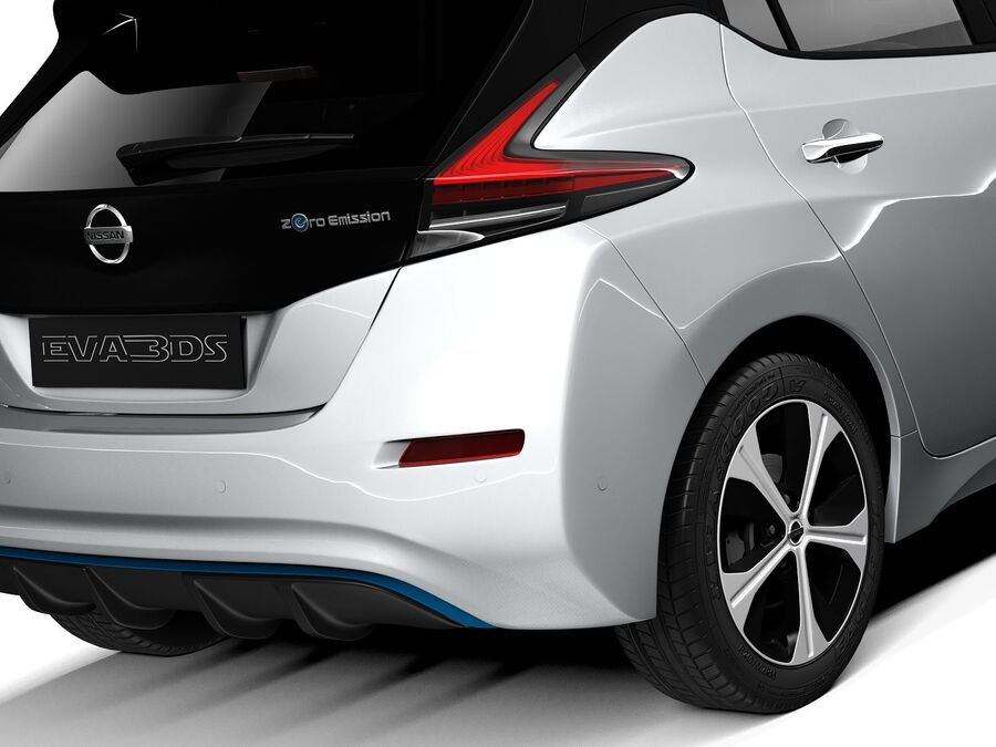 Nissan Leaf 2020 royalty-free modelo 3d - Preview no. 4