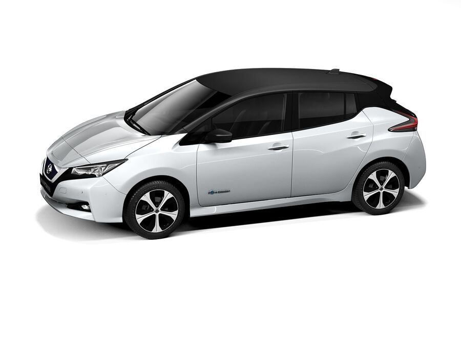 Nissan Leaf 2020 royalty-free 3d model - Preview no. 12
