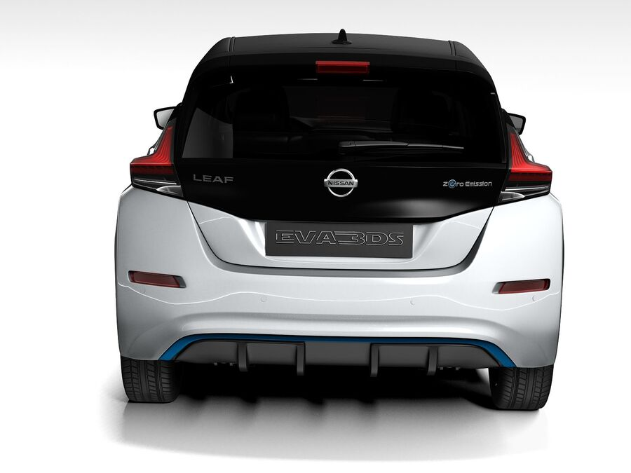 Nissan Leaf 2020 royalty-free 3d model - Preview no. 9