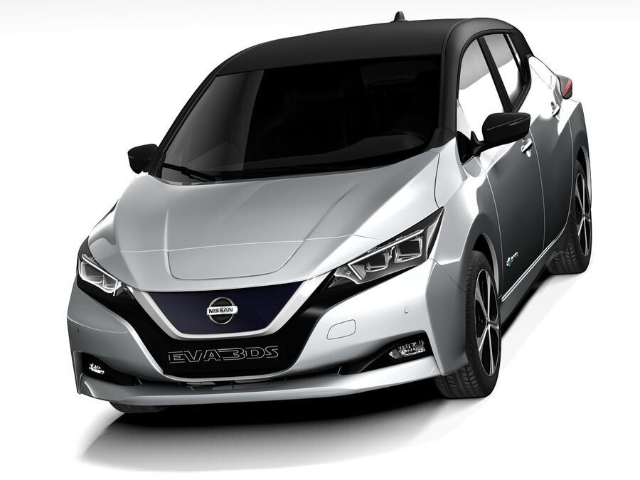 Nissan Leaf 2020 royalty-free 3d model - Preview no. 2