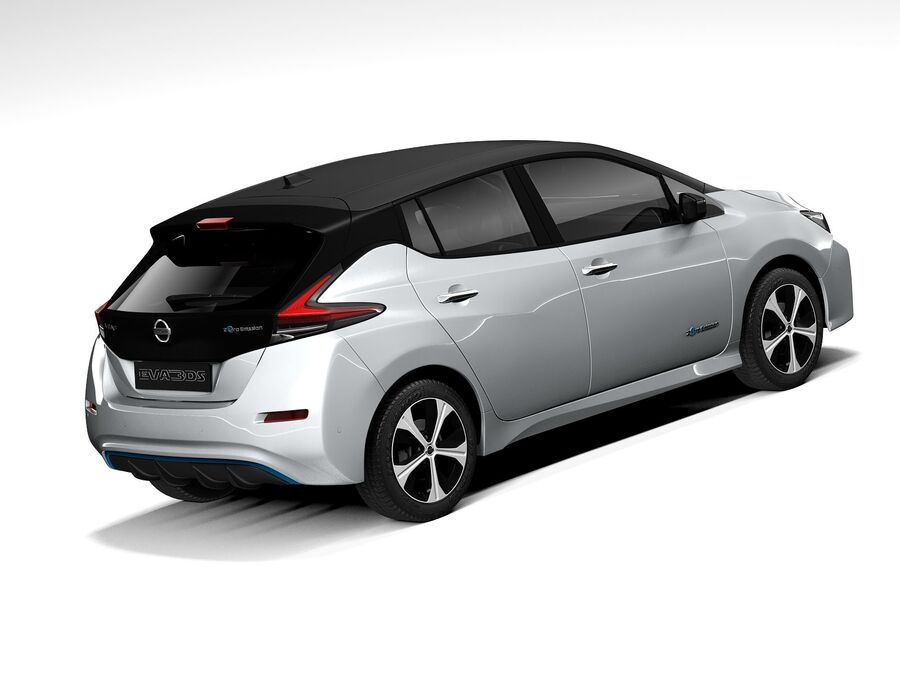 Nissan Leaf 2020 royalty-free 3d model - Preview no. 5