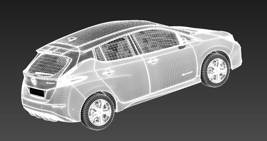Nissan Leaf 2020 royalty-free modelo 3d - Preview no. 14