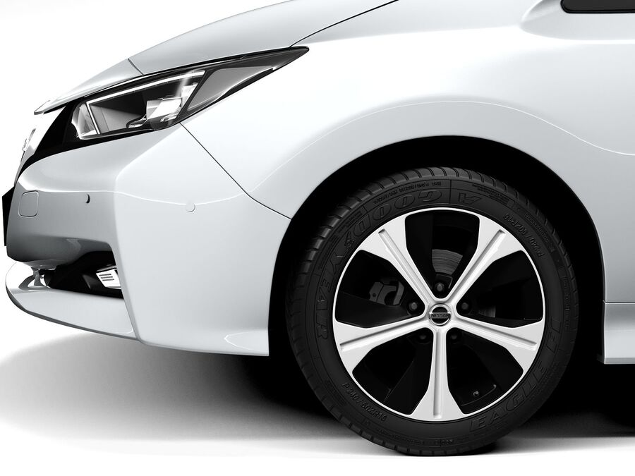 Nissan Leaf 2020 royalty-free 3d model - Preview no. 11