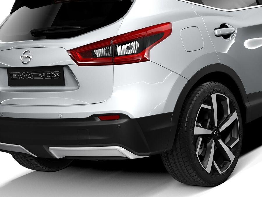 Nissan Qashqai 2020 royalty-free 3d model - Preview no. 4
