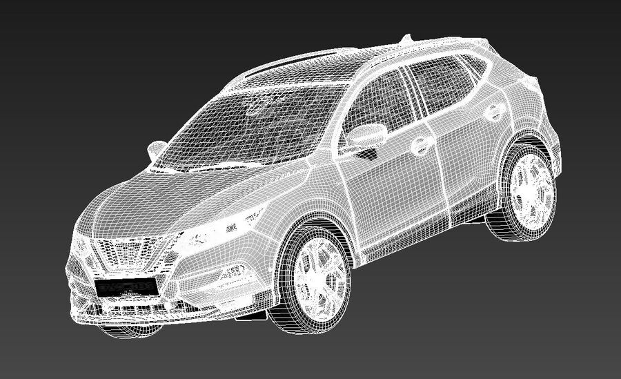 Nissan Qashqai 2020 royalty-free 3d model - Preview no. 13