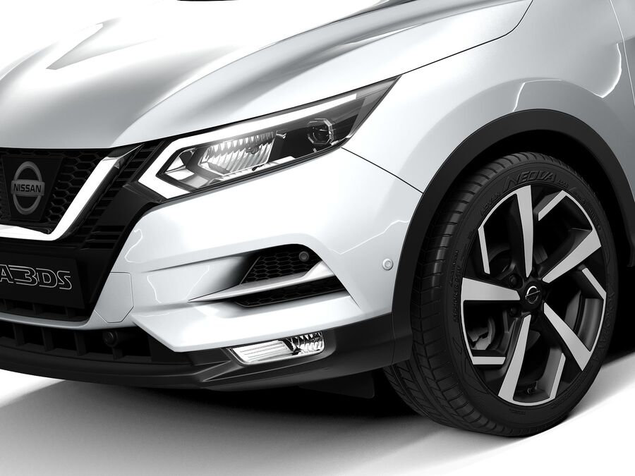 Nissan Qashqai 2020 royalty-free 3d model - Preview no. 3
