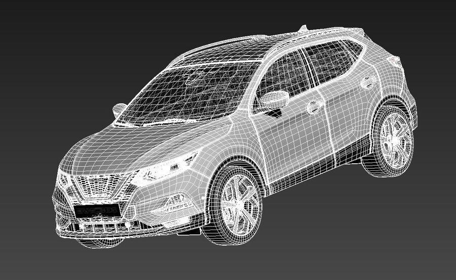 Nissan Qashqai 2020 royalty-free 3d model - Preview no. 15