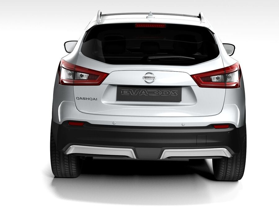 Nissan Qashqai 2020 royalty-free 3d model - Preview no. 9