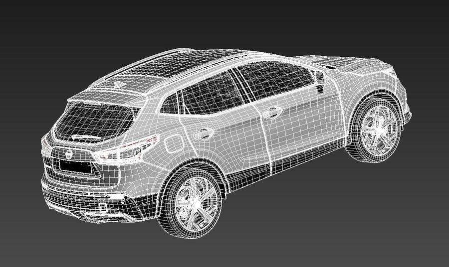 Nissan Qashqai 2020 royalty-free 3d model - Preview no. 16