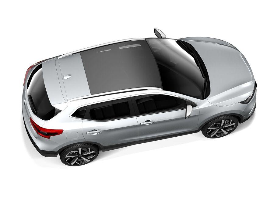 Nissan Qashqai 2020 royalty-free 3d model - Preview no. 8