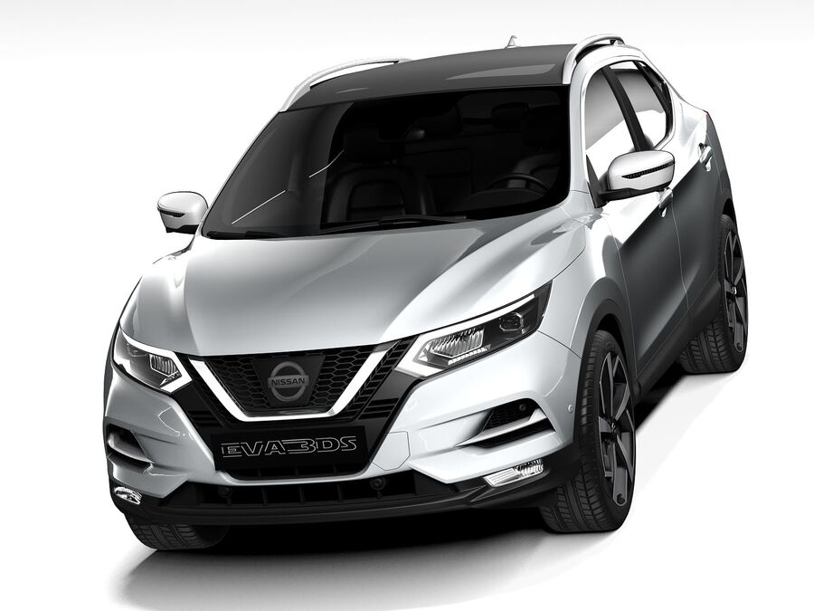 Nissan Qashqai 2020 royalty-free 3d model - Preview no. 2