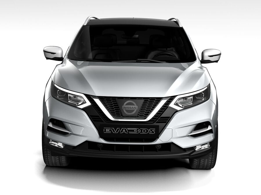 Nissan Qashqai 2020 royalty-free 3d model - Preview no. 10