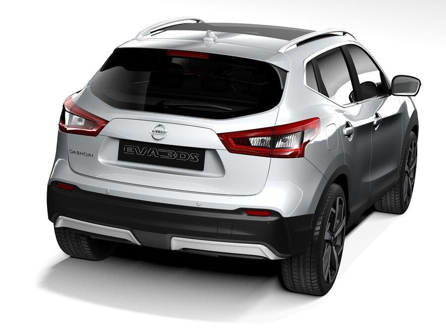 Nissan Qashqai 2020 royalty-free 3d model - Preview no. 6