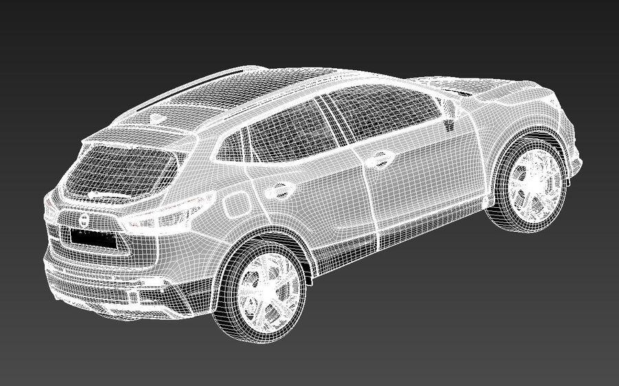 Nissan Qashqai 2020 royalty-free 3d model - Preview no. 14