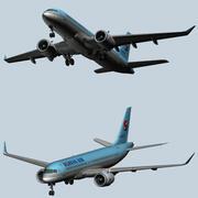 Korean Air Airbus A220 3d model