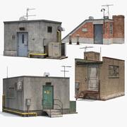 屋顶建筑集 3d model