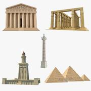Colección de monumentos antiguos modelo 3D (2) modelo 3d