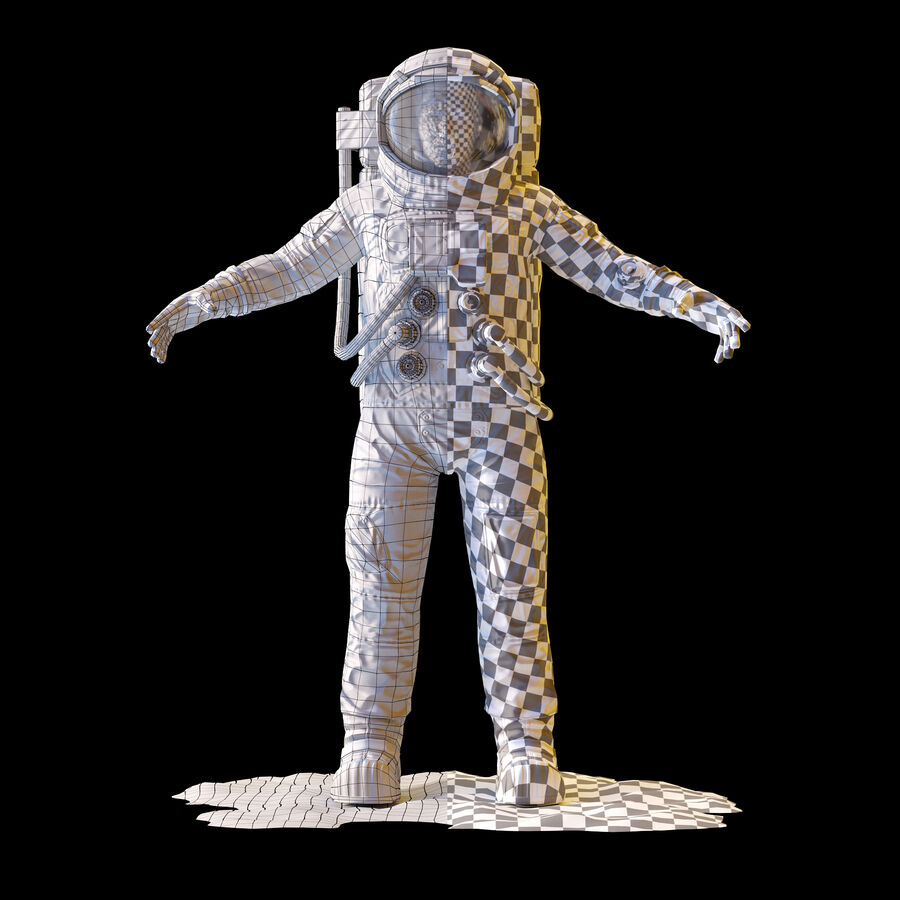 Astronaut royalty-free 3d model - Preview no. 13