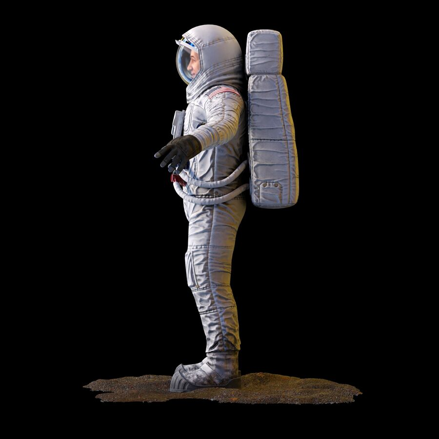 Astronaut royalty-free 3d model - Preview no. 9