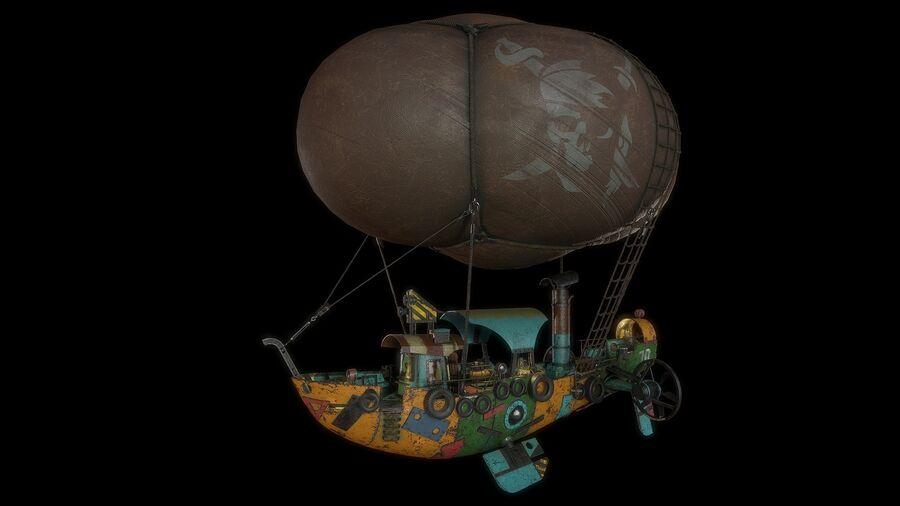 Steampunk Airship royalty-free 3d model - Preview no. 1