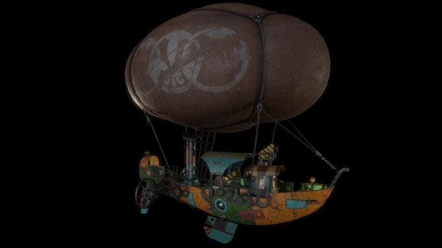 Steampunk Airship royalty-free 3d model - Preview no. 7