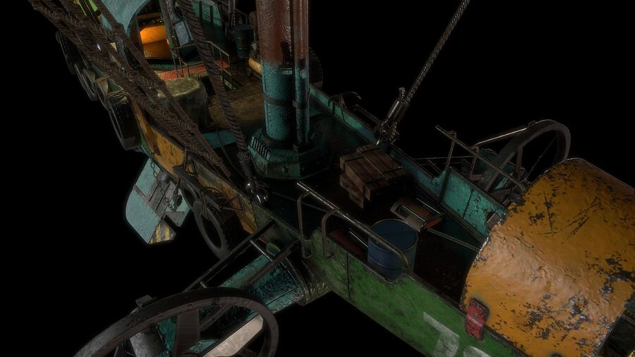 Steampunk Airship royalty-free 3d model - Preview no. 13