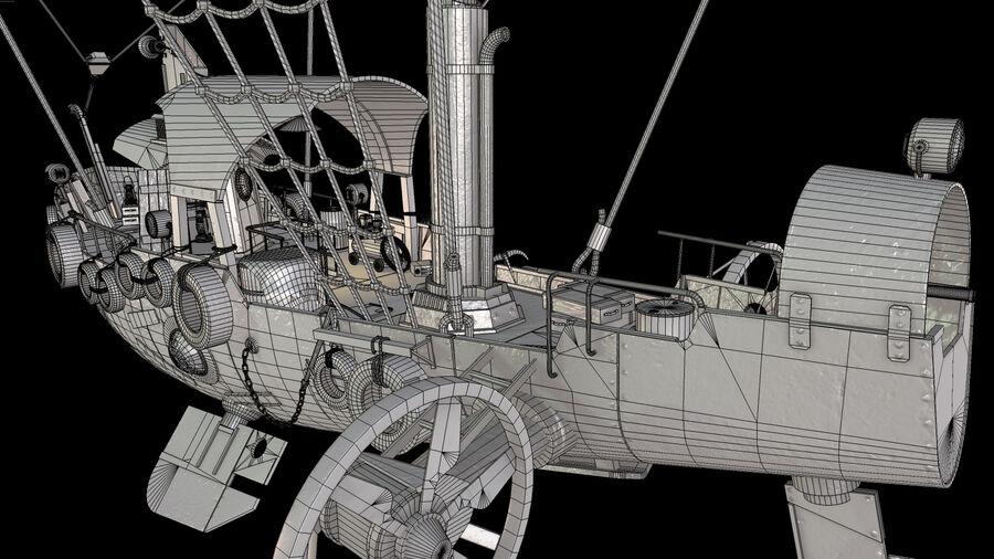 Steampunk Airship royalty-free 3d model - Preview no. 18