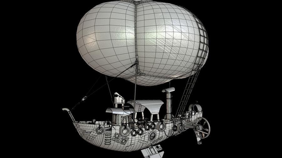 Steampunk Airship royalty-free 3d model - Preview no. 15