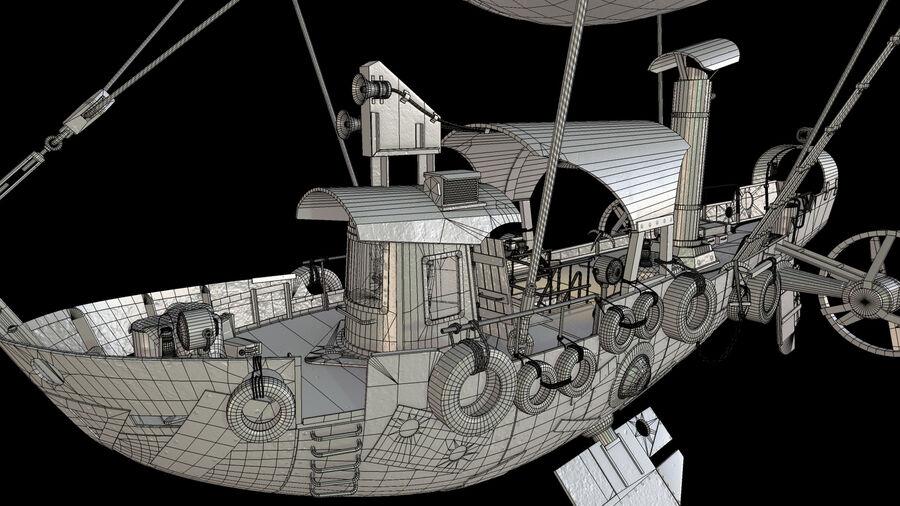 Steampunk Airship royalty-free 3d model - Preview no. 17