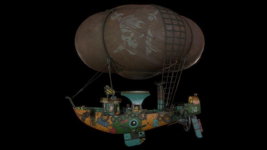Steampunk Airship royalty-free 3d model - Preview no. 2