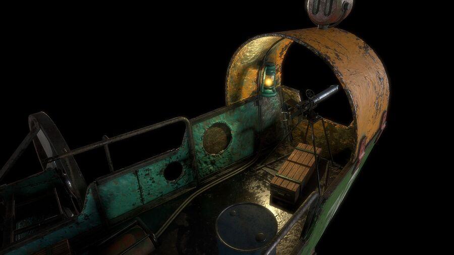 Steampunk Airship royalty-free 3d model - Preview no. 14