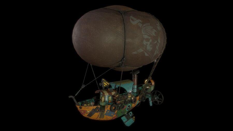 Steampunk Airship royalty-free 3d model - Preview no. 9