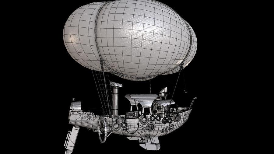 Steampunk Airship royalty-free 3d model - Preview no. 16