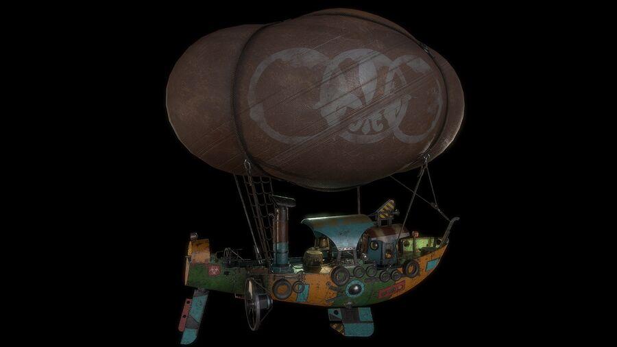 Steampunk Airship royalty-free 3d model - Preview no. 6