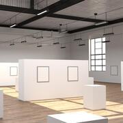 Industrial Art Gallery 3d model