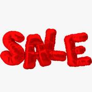 Воздушный шар Красные буквы Продажа 3d model
