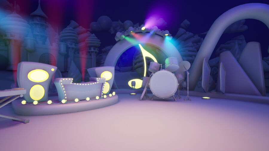 Asset UE4 - Cartoons - Background - Stage- Hight Poly 3D model royalty-free 3d model - Preview no. 16