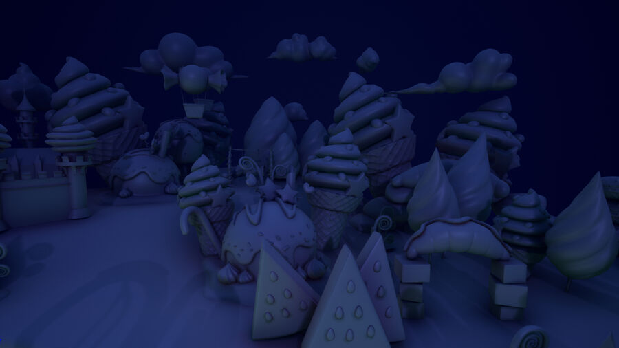 Asset UE4 - Cartoons - Background - Stage- Hight Poly 3D model royalty-free 3d model - Preview no. 13