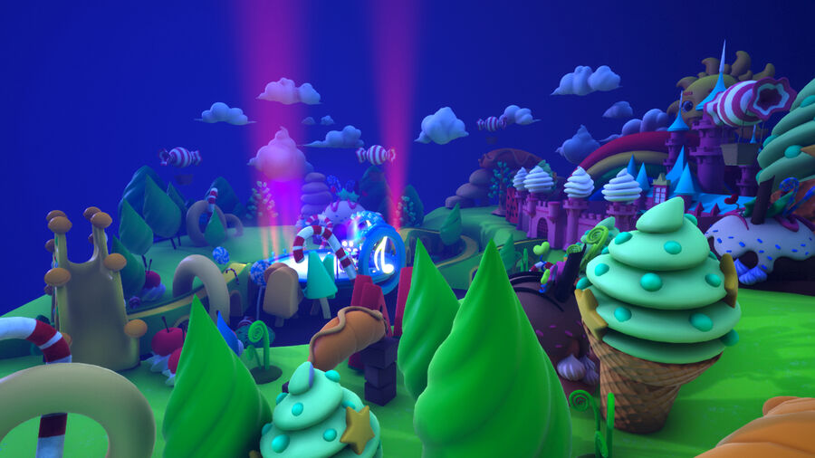 Asset UE4 - Cartoons - Background - Stage- Hight Poly 3D model royalty-free 3d model - Preview no. 21