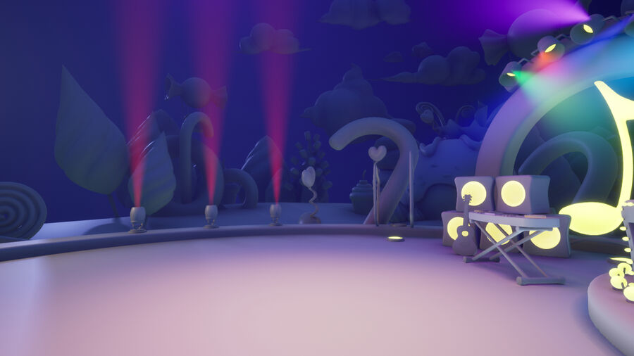Asset UE4 - Cartoons - Background - Stage- Hight Poly 3D model royalty-free 3d model - Preview no. 15