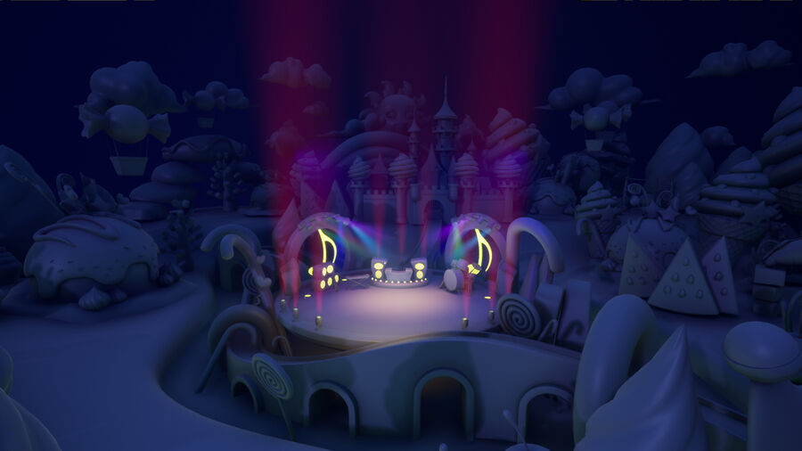 Asset UE4 - Cartoons - Background - Stage- Hight Poly 3D model royalty-free 3d model - Preview no. 10