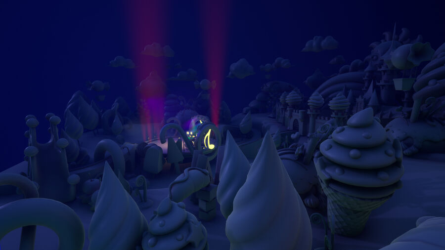 Asset UE4 - Cartoons - Background - Stage- Hight Poly 3D model royalty-free 3d model - Preview no. 11
